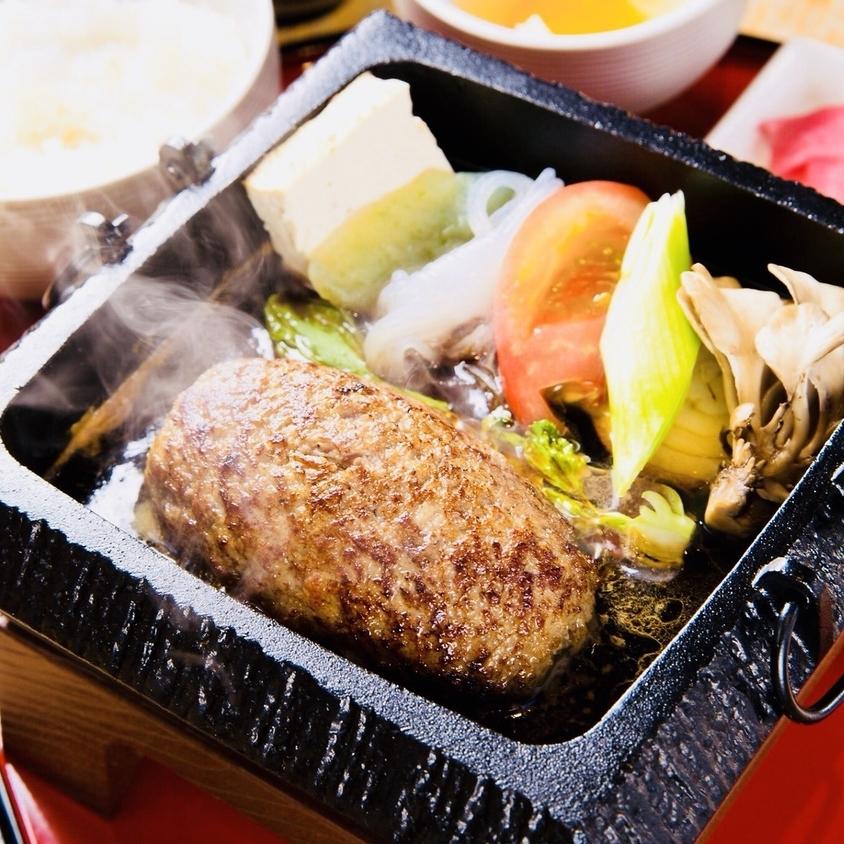仙台牛100%とろけるハンバーグすき焼き