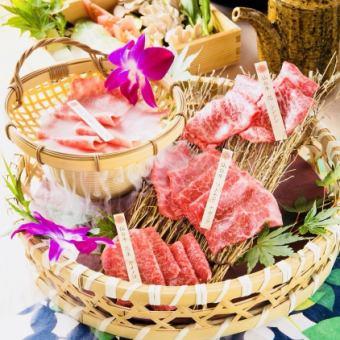 【1月~3月の期間限定】A5ランク仙台牛食べ比べすき焼きコース  飲み放題付き
