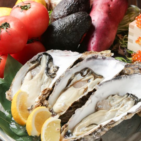 Safe security with trademark registration, use brand oysters outstanding in freshness! Various cuisines with sticking oysters ♪