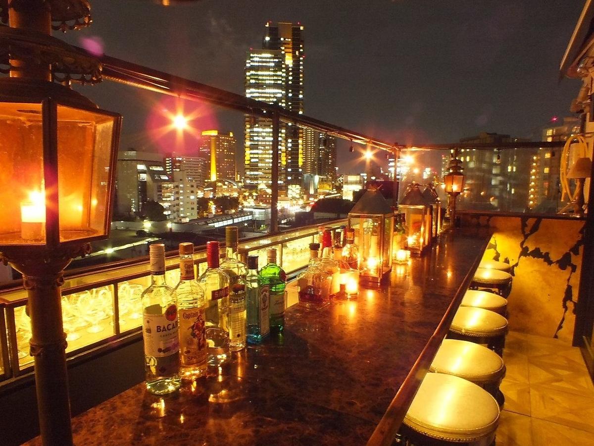 請務必感到6F酒吧屋頂櫃檯全開的時候的開放感覺