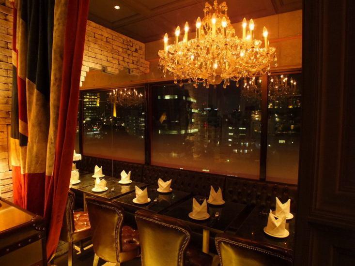 吊灯与座的豪华妇女会议夜景可以看到和招待◎