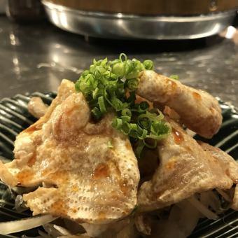 玉スラ鶏皮ポン酢/トマトスライス