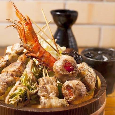 【炭火焼】魚介・お肉・野菜を炭火焼で焼きあげることで素材本来の美味しさを堪能。