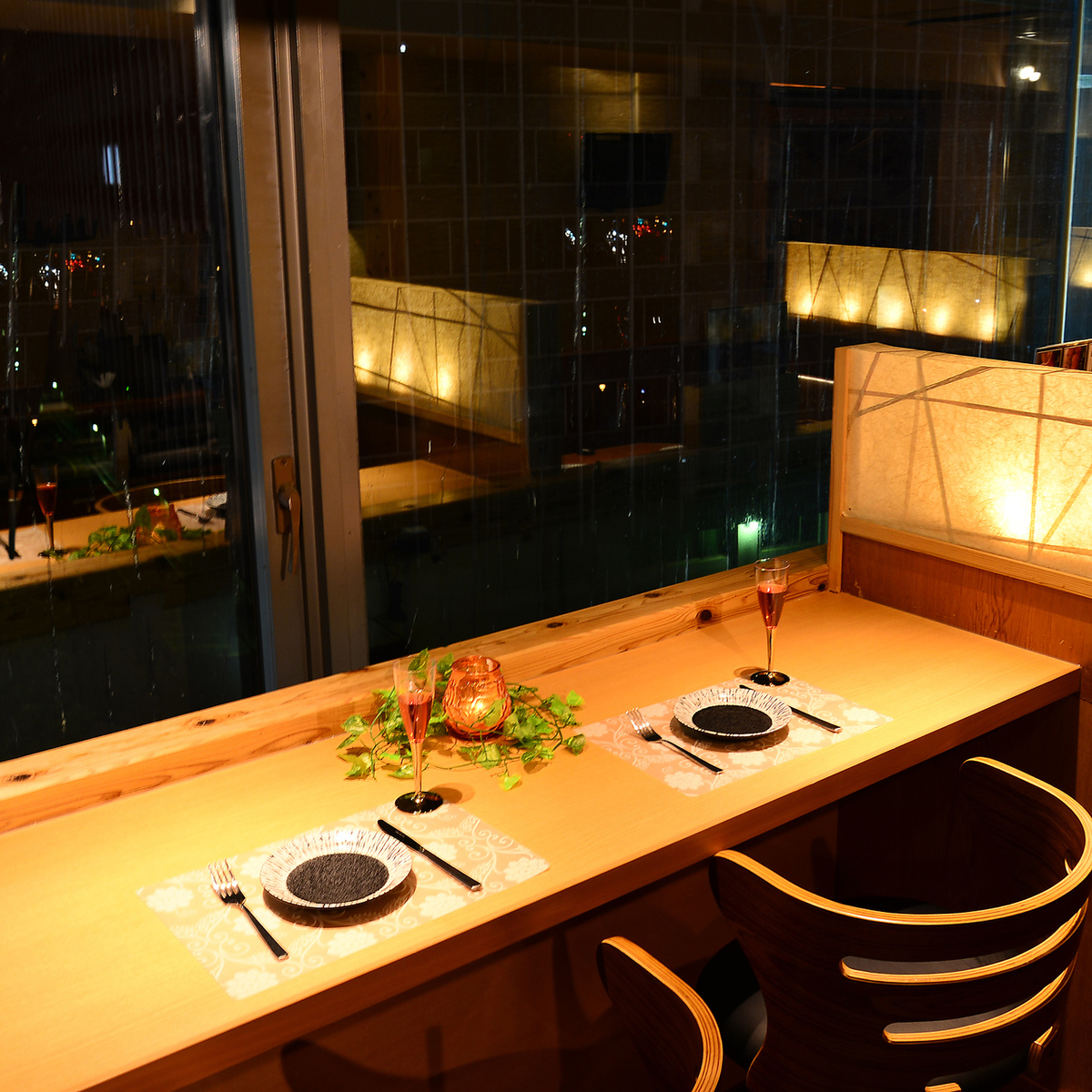 Dinner while watching the night view recommended for adult ◎ It will be an unforgettable and valuable time ♪ When looking for a pub in Umeda, Japanese Modern Private Room Space, Concluded - YUI - To ☆ 彡 ☆ 彡 [ All-you-can-drink all-you-can-drink all-you-can-drink night view in Umeda pub Recommended girls' s party