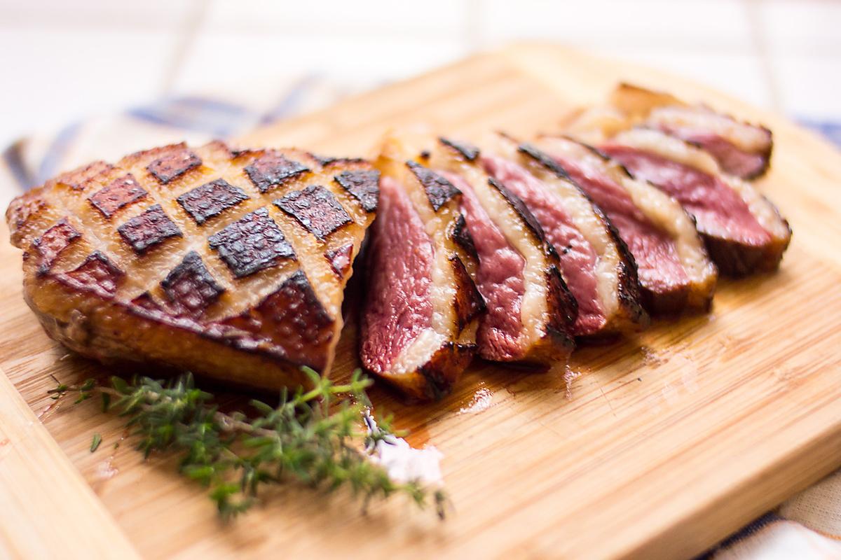Duck breast meat roast