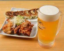 時間無制限日本酒飲み放題&唐揚げ餃子食べ放題、〆の半ラーメン付き5000円コース