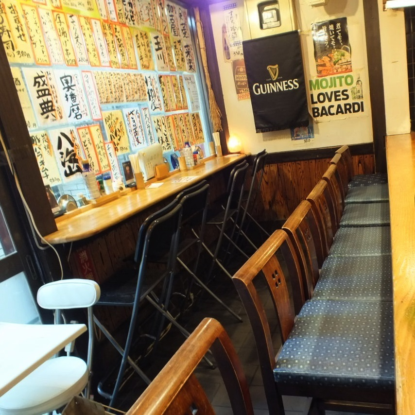 【Counter seat × 13 seats】 ◎ also people coming to Flat with yourself