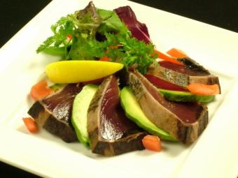 Of fresh seafood carpaccio