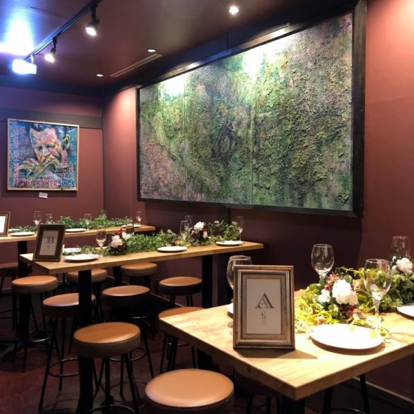 【30 to up to 70 guests private · party at! Lunch party too!】 There are 2 types of private space ☆ The private party is seated up to 70 people, the standing up to 100 people ◎ Please do not hesitate to contact us for even 30 people or less Please consult ♪ Luncheon counseling will be accepted from 50 people for luncheon dinner! Inside the shop there is a private room wind spaces that you can taste charter atmosphere even for small numbers!