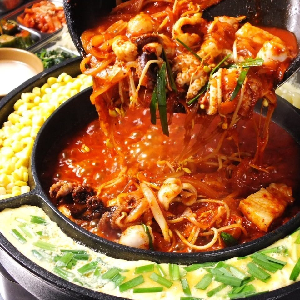 """""""韓國流行的chukumi""""在正宗的韓國辣味食物"""