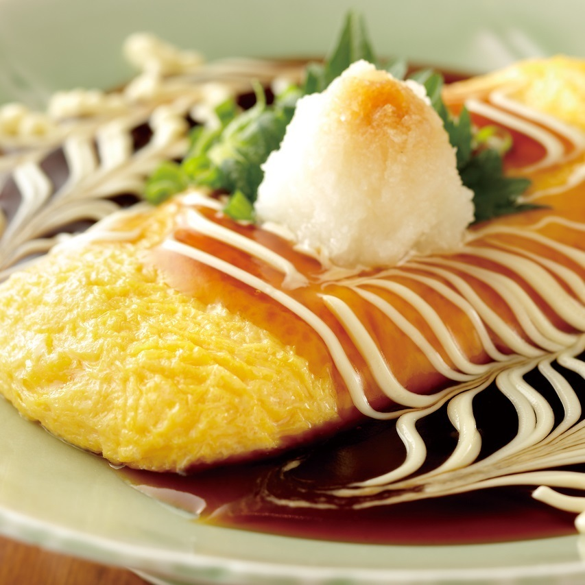 Cheese omelette Japanese style bean paste
