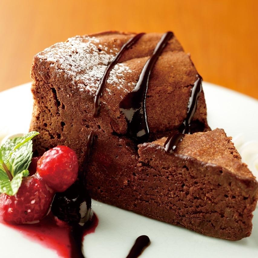 생활 초코 원단의 초콜릿 케이크