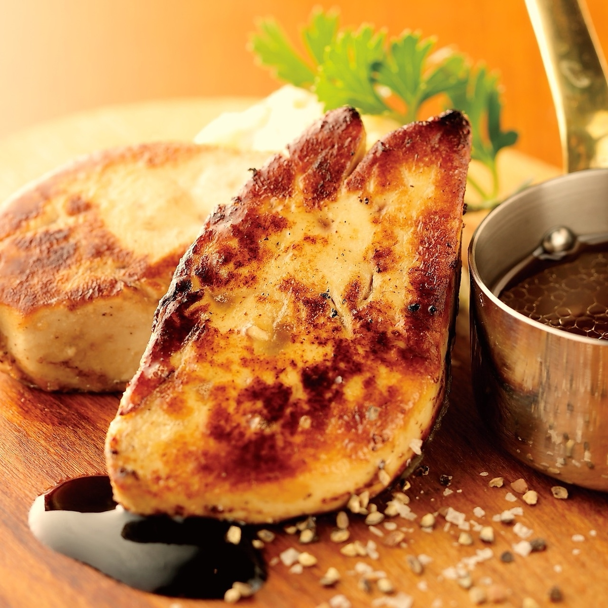 Foie gras grill ~ balsamic and butter soy sauce ~