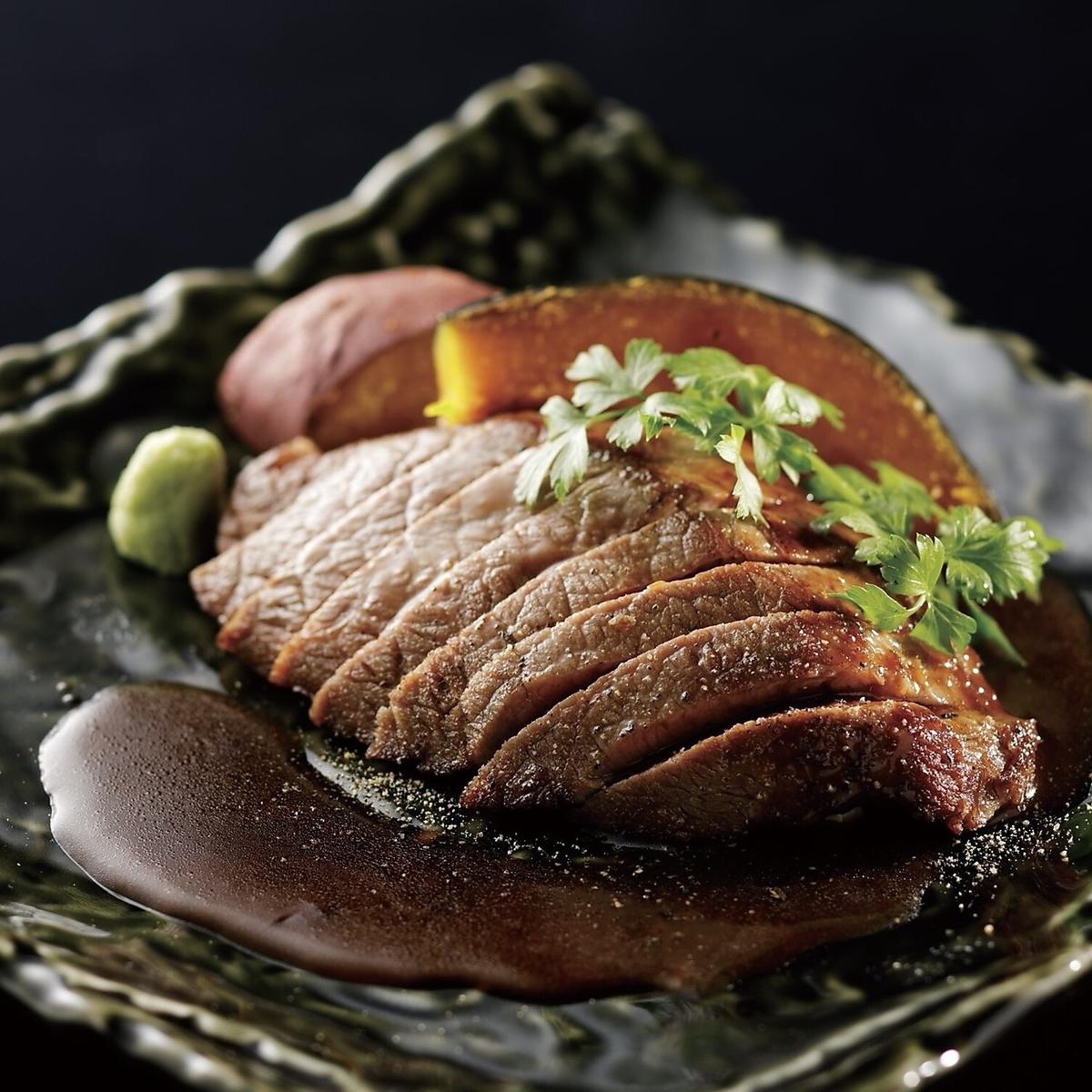 일본 흑소 램프 구운 고기