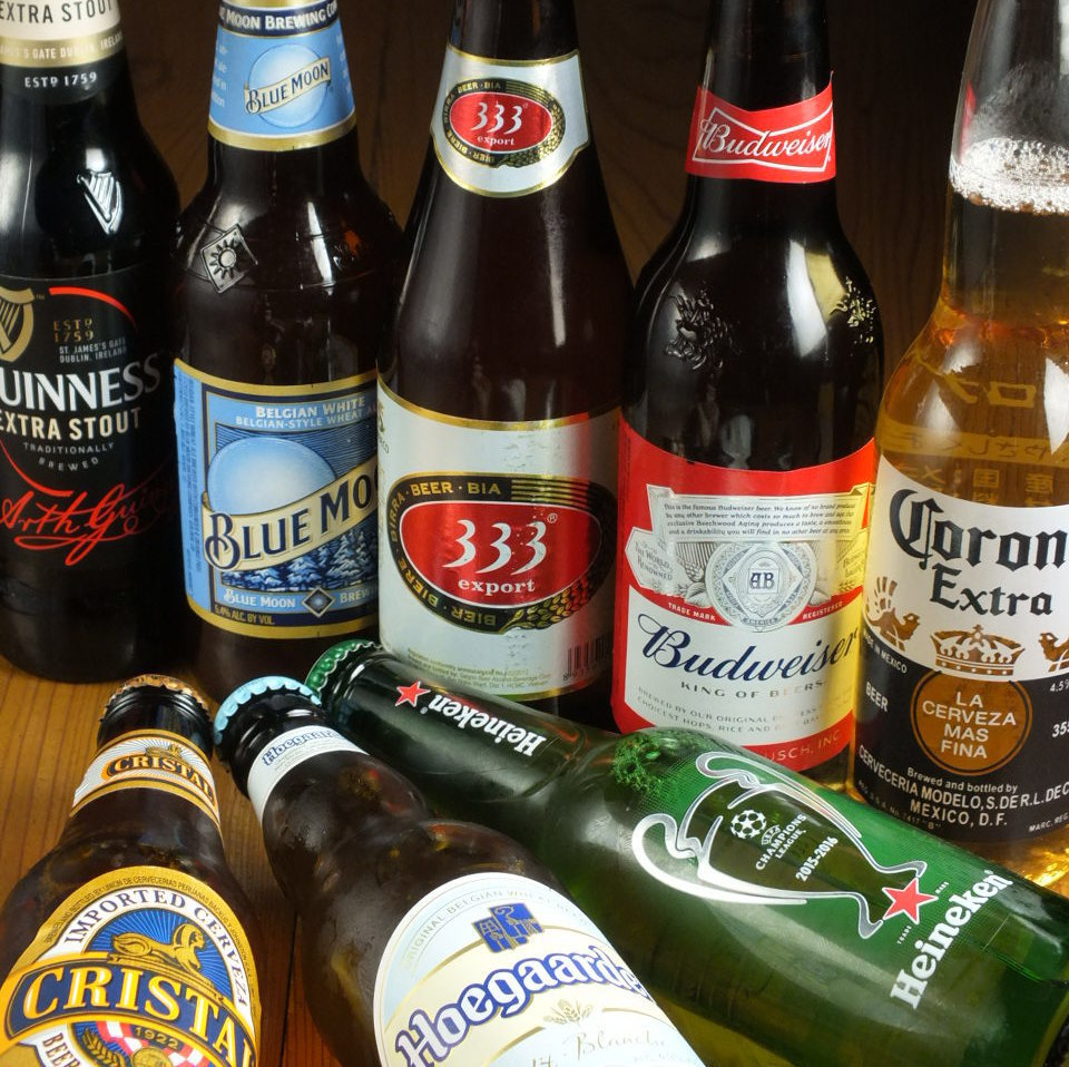 More than 20 types of international beers in the world!