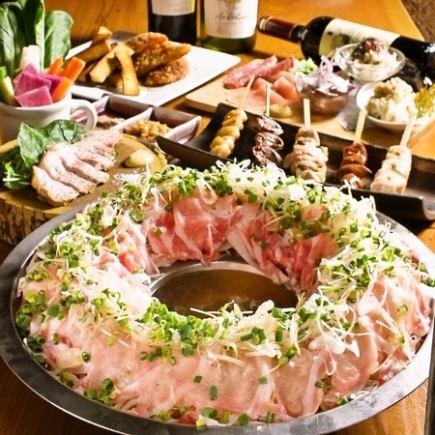 [나데시코 한정 공주 회 코 - 스] 바냐 카우이나 일본식 리조또 등 3 시간 음료 뷔페 포함 총 8 종 3600 엔