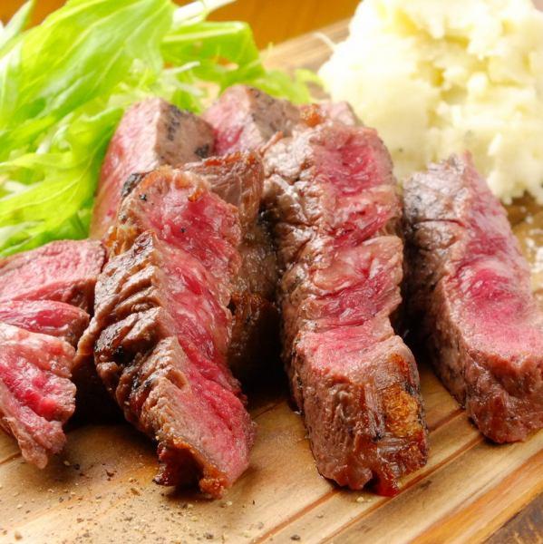 <회원 한정 8 명 이상으로 무료로!> 더워 때문 스태미너 만점 !! 고급 숙성 고기를! 아카기 숙성 쇠고기 숯불 구이