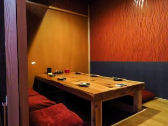 Private rooms are available for each scene and number of people.
