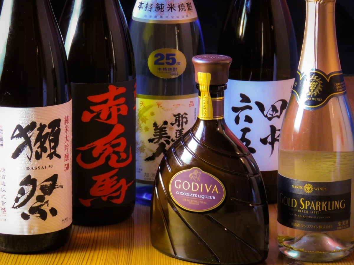 All you can drink premium including festival for over 5000 yen course!