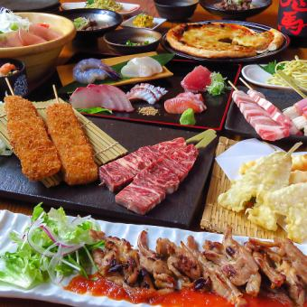 [June] Sun-Thurs only ★ Enjoy pots and desserts! All 13 dishes & 120 minutes all-you-can-drink (excluding local sake) 3500 yen