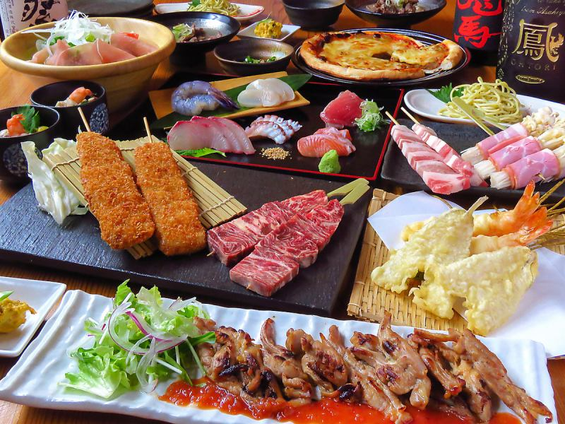 A course of creative dishes that uses fresh seasonal fish and luxurious ingredients generously from 3500 yen
