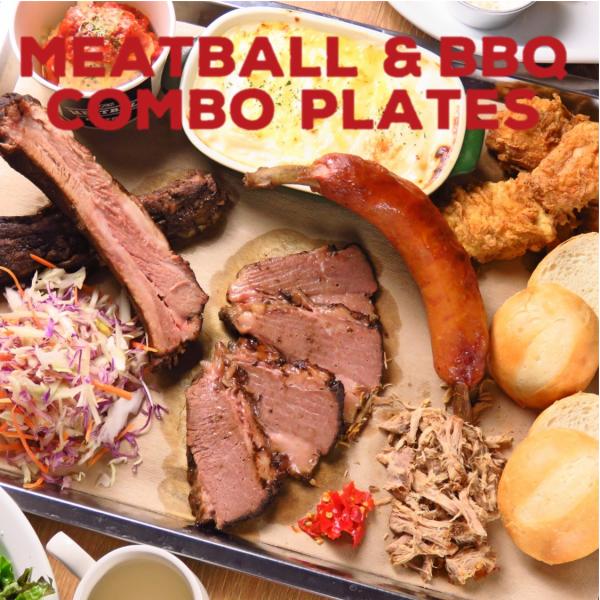 MEATBALL&BBQ COMBO PLATES肉丸和燒烤組合板