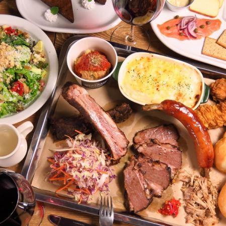 【各種宴會!燒烤肉組合4種套餐】120分鐘,所有你可以喝4000日元+ 300日元原料·與莫吉托