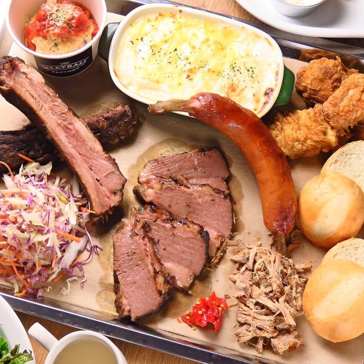 COMBO 6肉丸和6個燒烤組合拼盤什錦