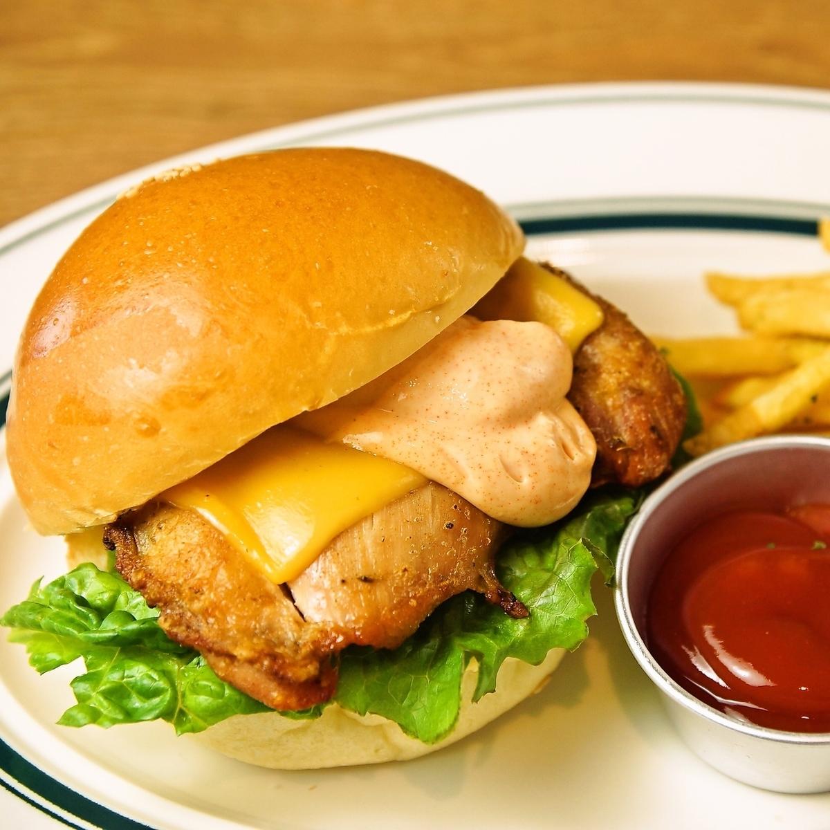 香草雞和chopotlelemyo漢堡