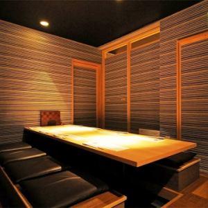 り炬燵式完全個室は接待や会食におすすめです。2部屋をつなげれば最大18名様迄着席が可能です。ご予約お問い合わせ下さい♪