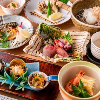 【敦賀(会席コース)】◆お料理のみ◆接待・会食におすすめ 全9品 5,000円