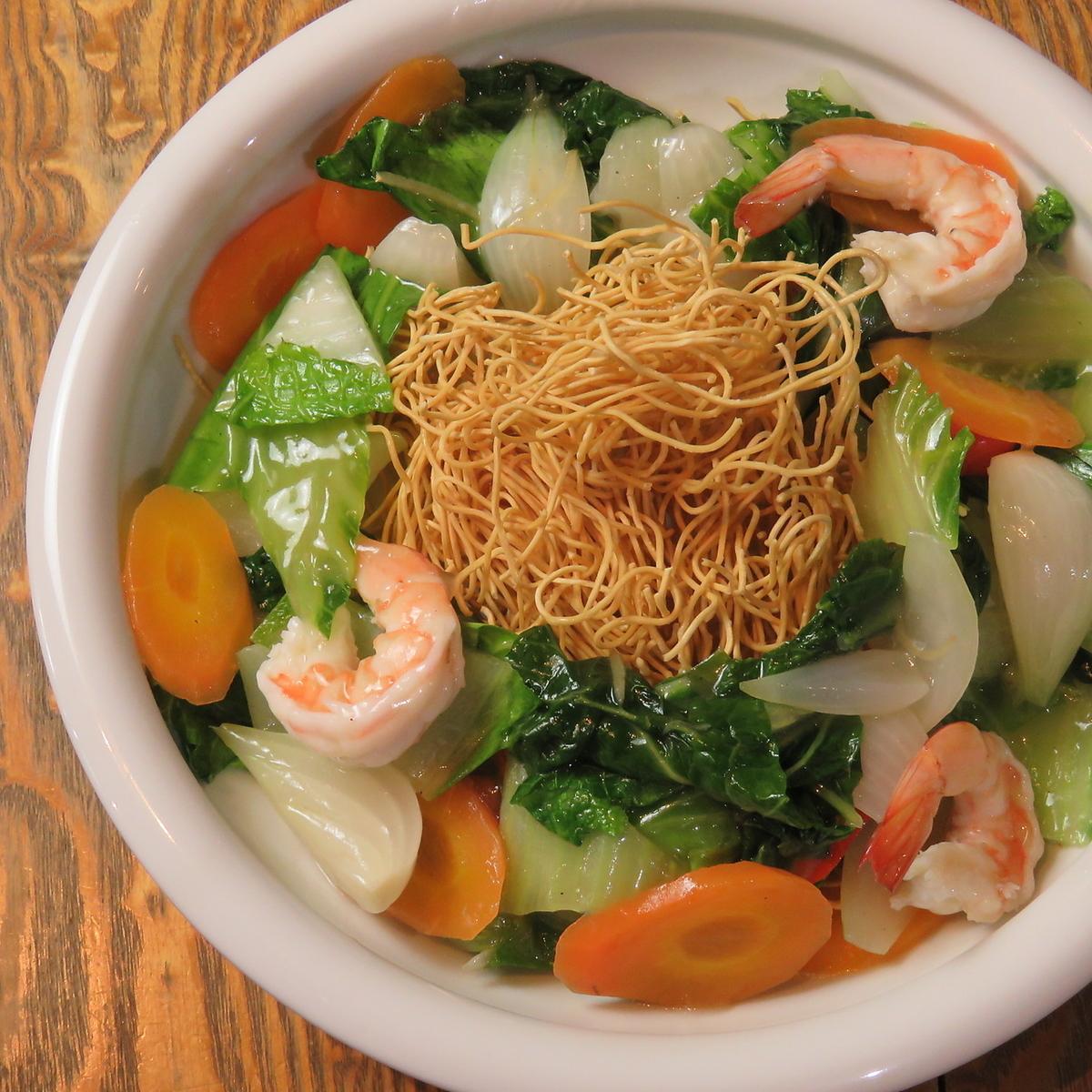 海鮮魷魚,巴厘島蕎麥麵