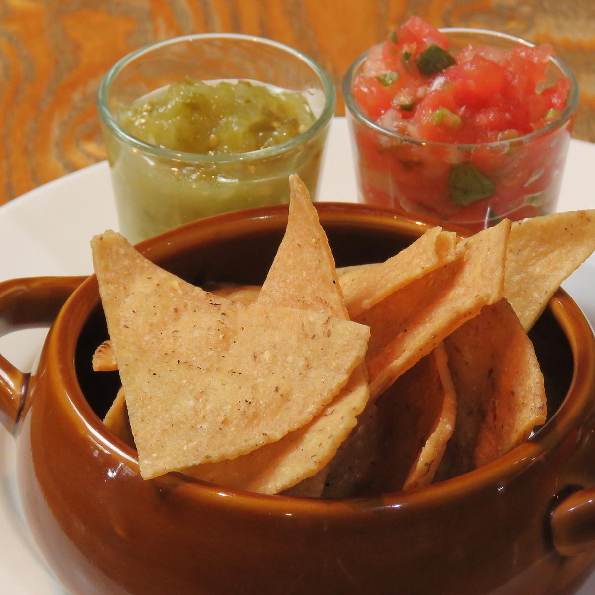 墨西哥玉米片(莎莎醬/芥末醬)