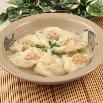 年糕餛飩湯(5只)/水餃特別醬(辣)(5只)