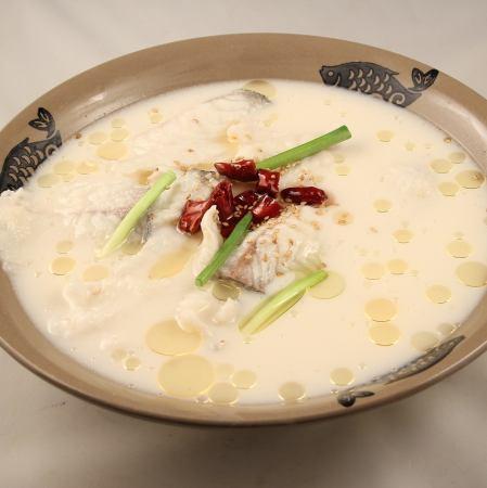 白身魚の薬膳白湯スープ