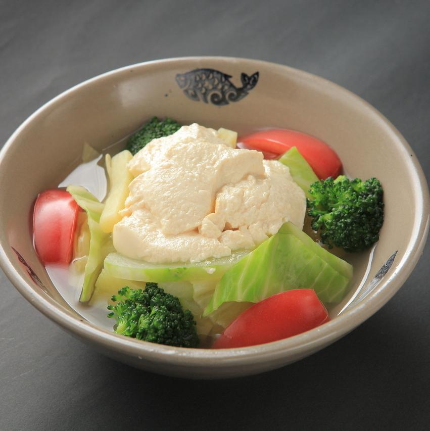 Saiki温暖的菜豆花
