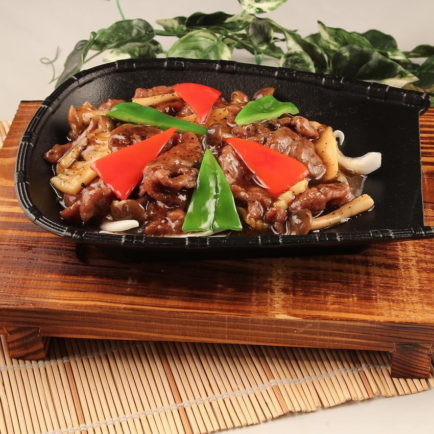 烤牛肉配铁板烧/牛肉的Nishikuri辛辣炖