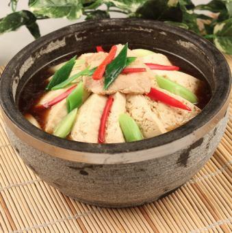 棉豆腐石锅炖四川
