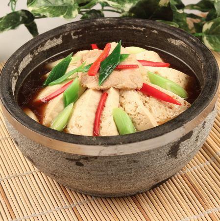 木綿豆腐の石鍋 四川煮込み