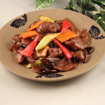ポルチーニ茸と牛肉炒め/ポルチーニ茸入りホイコーロー
