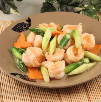 蝦和炒蘆筍/ Ebi辣椒醬
