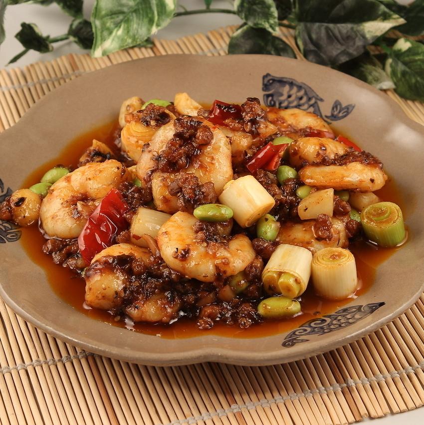 Original Sichuan Prawn / Shrimp and Cashew Nut Stir Fry