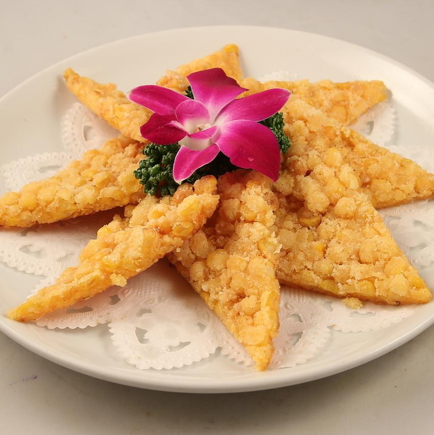 Crispy grain corn octopus / Negipai