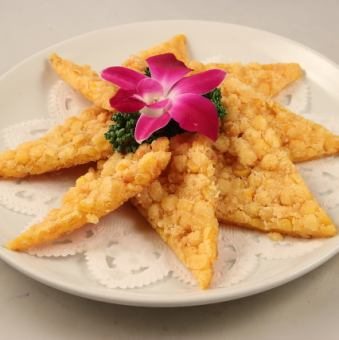 脆皮五穀玉米章魚/ Negipai
