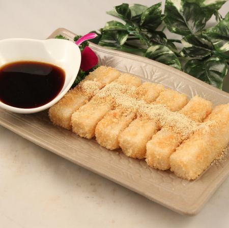 Homemade brown sugar mochi