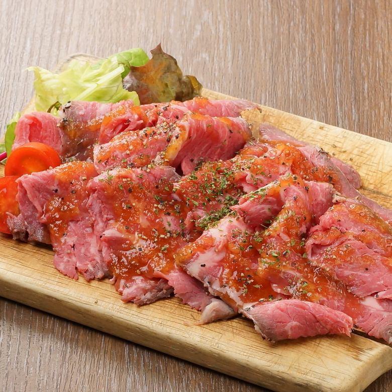 Roast beef of Australian black cattle