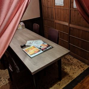 女子会人気のテーブル個室!