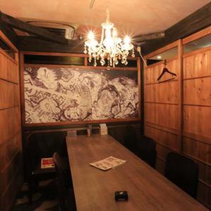お洒落なテーブル個室。