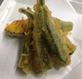 Okra Tian (Summer) / Tempura of Sauce