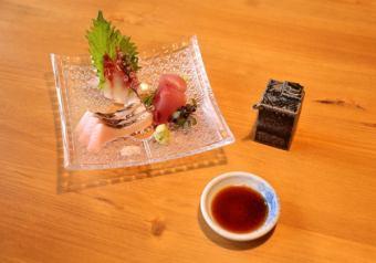[生魚片,季節性海鮮]刺身盤三點盛